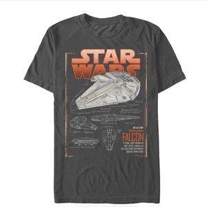 NWT Star Wars Millennium Falcon Graphic Tee, 3XL